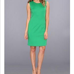 Vince Camuto Green Shift Dress Sz 10